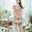 XL777ชุดเดรสผ้า Canvas พื้นส้มลายดอก แต่งปก กระเป๋า ติดโบว์ ผ้าสีขาว เพิ่มความน่ารักให้กับชุด thumbnail 11
