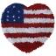 พรมเช็ดเท้า แฟนซี ลาย หัวใจธงอเมริกา thumbnail 1