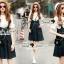 Seoul Secret Say's... Bibby Skirty Denim Chill Set thumbnail 5