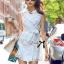 Lady Ribbon's Made Lady Natasha Sophisticated Sleeveless Lace Trench Shirt Dress thumbnail 1
