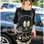 Lady Ribbon's Made Lady Rachel Funky Quirky Kitten Studded Black Jersey Dress thumbnail 4