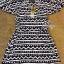 Sevy Geometric Striped Contrast Cut Shoulder Mini Dress thumbnail 5