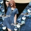 Seoul Secret Say's .... Sequinny V Furnish Denim Dress thumbnail 7