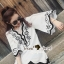 Seoul Secret Say's... Curly Stick Girly Bell Sleeves LOng Blouse thumbnail 6