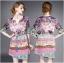 Lady Ribbon's Made Lady Florence Hippie Chic Printed Satin Dress thumbnail 3