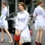 Cliona made' Helena Luxury White Long Shirt Dress thumbnail 2