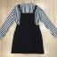 Cliona made'B'N'W Straight Line Top Shirt + Sxy Black Strap Mini Dress thumbnail 5