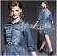 Lady Ribbon's Made Lady Vanessa Country Feminine Denim Shirt Dress with Embellished Belt thumbnail 3