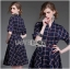 Lady Ribbon's Made Lady Amanda Smart Chic Check Printed Buttoned Dress with Belt thumbnail 2