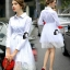 Cliona made' Helena Luxury White Long Shirt Dress thumbnail 4