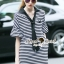 Seoul Secret Say's...Neck Tie Stipty Chic Chill Dress thumbnail 6