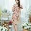 XL777ชุดเดรสผ้า Canvas พื้นส้มลายดอก แต่งปก กระเป๋า ติดโบว์ ผ้าสีขาว เพิ่มความน่ารักให้กับชุด thumbnail 6