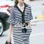 Seoul Secret Say's...Neck Tie Stipty Chic Chill Dress thumbnail 4