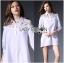 Lady Ribbon's Made Lady Serena Feminine Basic Cotton and Lace Shirt Dress thumbnail 2