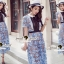 Seoul Secret Say's .... Baby Blue Flora Lace Flowering Dress thumbnail 5