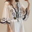 Seoul Secret Say's... Curly Stick Girly Bell Sleeves LOng Blouse thumbnail 1
