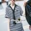 Seoul Secret Say's...Neck Tie Stipty Chic Chill Dress thumbnail 5