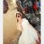 44907-ขาว ชุดเดรสสั้นสีขาว หน้าอกเย็บระบาย สวยเก๋ เปิดไหล่ สวยหวาน thumbnail 2