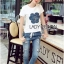 Lady Ribbon's Made Lady Coco Camellia Denim Embroidered T-Shirt and Skinny Jeans Set thumbnail 1