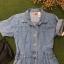 Vintage jumpsuit : จั๊มสูทยีนส์ขาสั้น เอวจั๊มหลัง ผ้ายีนส์เนื้อไม่หนา thumbnail 2