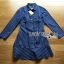 Lady Grace Minimal Chic Striped Peplum Denim Shirt Dress thumbnail 6