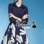 "Vivivaa recommend ""Bluely flora skirt denim dress"" thumbnail 1"