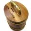 ถังเงิน ถังทอง กระปุกออมสิน ไม้สัก ทรงวงรี 4 นิ้ว thumbnail 2
