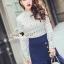 Seoul Secret Say's...Back Rive Lace Denim Dress thumbnail 4
