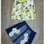 Sweet Bunny Present... Lemon Blossom Sleeveless Shirt and Denim Embroidered Daisy Skirt Set thumbnail 6