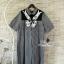 Korea Design By Lavida black scottish bowl sequined short sleeve dress thumbnail 6