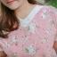 XL,3XL,5XLชุดเดรสสาวอวบ++ผ้า Canvas TM พื้นชมพูลายดอก จุดเด่นของชุดนี้ ดีไซน์คอวีสุดเก๋ thumbnail 21