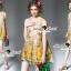 Seoul Secret Say's... Yellow Flora Girly Silkly Dress thumbnail 3