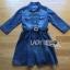 Lady Ribbon's Made Lady Vanessa Country Feminine Denim Shirt Dress with Embellished Belt thumbnail 5