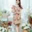 XL777ชุดเดรสผ้า Canvas พื้นส้มลายดอก แต่งปก กระเป๋า ติดโบว์ ผ้าสีขาว เพิ่มความน่ารักให้กับชุด thumbnail 15