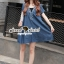 Seoul Secret Say's .... Sequinny V Furnish Denim Dress thumbnail 4