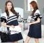 Lady Natasha Striped Dress in Navy Style thumbnail 2