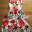 Lady Ribbon's Made Lady Lauren Colourful Polka Dots Red Flower Printed Dress thumbnail 5