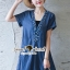 Seoul Secret Say's .... Sequinny V Furnish Denim Dress thumbnail 2