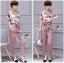 Lady Ribbon's Made Lady Jennifer Floral Printed Top and Pink Ribbon Pants Set thumbnail 6