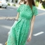Lace shift lime long dress by Sweet Bunny thumbnail 4