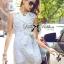 Lady Ribbon's Made Lady Natasha Sophisticated Sleeveless Lace Trench Shirt Dress thumbnail 2