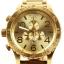 นาฬิกา NIXON Men Chronograph Chronograph Gold Dails Watch A083502 48-20 thumbnail 1