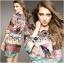 Lady Ribbon's Made Lady Florence Hippie Chic Printed Satin Dress thumbnail 4