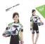 **สินค้าพรีออเดอร์**ชุดปั่นจักรยาน ผู้หญิง cat (เสื้อ+กางเกงขาสั้น) มี 3 สี thumbnail 2