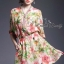 Zip neck floral dress by Sweet Bunny thumbnail 1