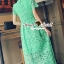 Seoul Secret Say's... Luxy Princess Lace Maxi Dress สีเขียว thumbnail 5