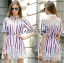 Lady Ribbon's Made Lady Julie Minimal Insert Lace Striped Short Dress thumbnail 4
