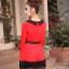 เสื้อแฟชั่น แขนยาว สีดำ รหัส 43936-แดง thumbnail 7