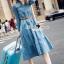 Seoul Secret Say's... Chic Denim Layer Maxi Dress thumbnail 2