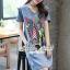 Seoul Secret Say's .... Fashly Girl Print Denim Dress thumbnail 3